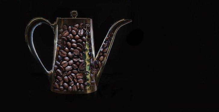 Ứng dụng các hạt cà phê trong trang trí